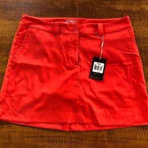 NWT Nike - Orange Drifit Golf Skirt - Size 12